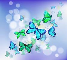Schmetterlinge in einem Briefpapier vektor