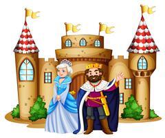 König und Königin im Schloss