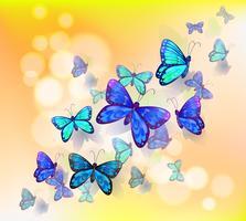 En tapetdesign med fjärilar