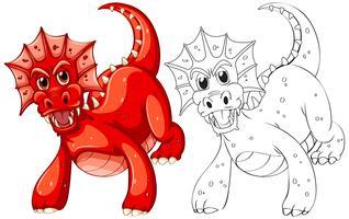 Tierentwurf für Drachen vektor