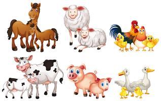 Set av lantbruksdjur