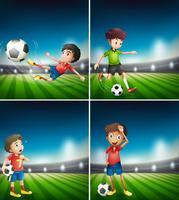 Eine Reihe von Fußballspieler