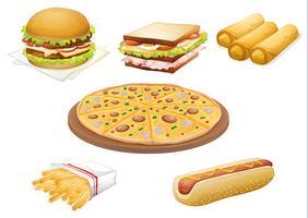 verschiedene Lebensmittel vektor