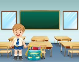 En student som bär en komplett uniform vektor