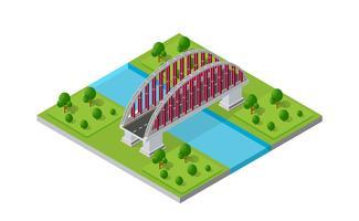 Broväggen av stadsinfrastruktur är