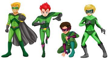 Gröna hjältar vektor