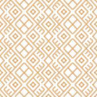 Nahtloses Muster der geometrischen Verzierung der Goldkette auf weißem Hintergrund. Vektor-Illustration