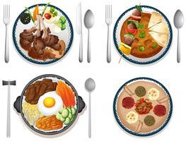 Internationales Essen vektor