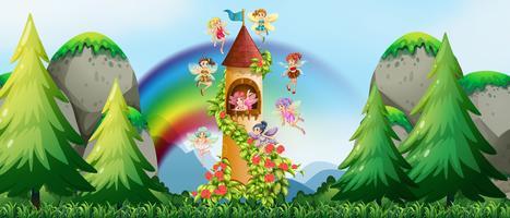 Fairies och slott vektor