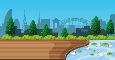 Teich im Park vektor