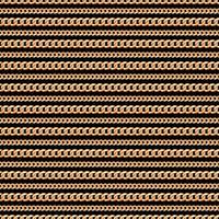 Nahtloses Muster von Goldkettenlinien auf schwarzem Hintergrund. Vektor-Illustration