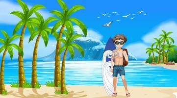 Junge und Strand