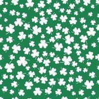 Kleeblatt flaches Design grüner Hintergrund Hintergrundmuster Vektor-Illustration vektor
