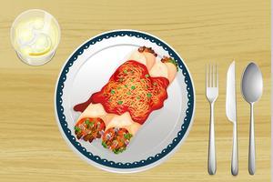 En mat i en maträtt