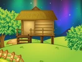 En hut i naturen