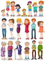 Familjeset vektor