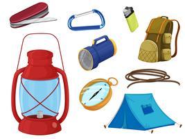 verschiedene Objekte des Campings