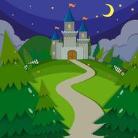 Slottstorn på natten vektor