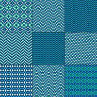 blaue geometrische Muster des Mod-Bargello vektor
