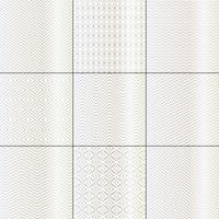silberne weiße mod bargello geometrische muster