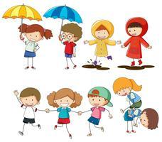 Sats av barnaktivitet vektor