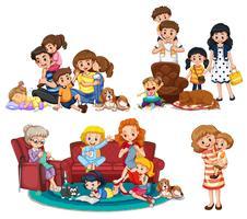 En uppsättning familjemedlemmar vektor