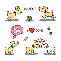 Vektorsatz lustige Karikaturhunde