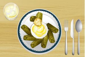 En sallad i en maträtt