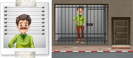 Mann hinter den Gittern