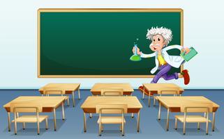 Forskare i klassrummet vektor