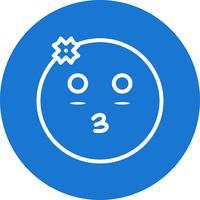 flicka emoji vektorikonen