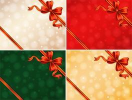 Vorlage mit vier Hintergrund mit roten Bändern