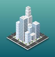 Stadens isometriska koncept för stadsinfrastrukturverksamhet
