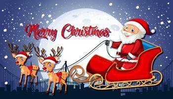 Santa claus glada julmall vektor