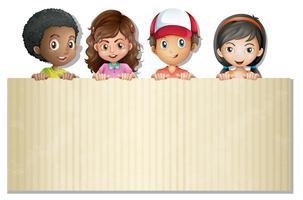 Internationale Kinder auf Banner
