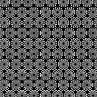schwarzes weißes verziertes kreisförmiges Medaillonmuster