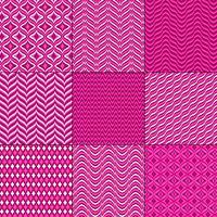 rosa röda mod bargello geometriska mönster vektor