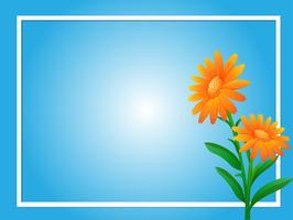 Gränsmall med orange blommor
