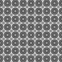 svart vit cirkel medaljongmönster