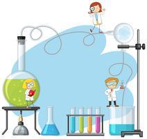 Gekritzel-Wissenschaftler im Labor vektor