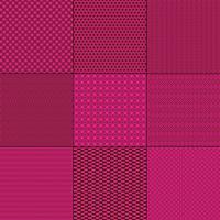 Magentarosa und braune mod geometrische Muster vektor