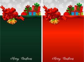 Hintergrund zwei mit Weihnachtsgeschenken vektor