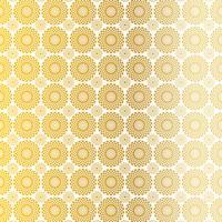Goldweißes Kreis-Medaillonmuster
