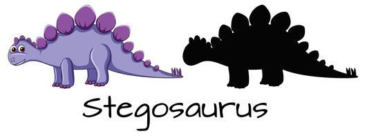 Olika design av dinosauruppsättning vektor