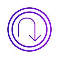 Vektor-U-Turn-Symbol