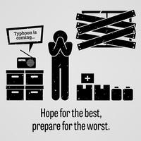 Hoffnung auf das Beste Vorbereitung auf das Schlimmste. vektor