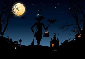 Halloween nätter vektor pack
