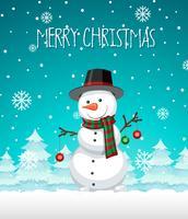 Eine Schneemannweihnachtsschablone vektor