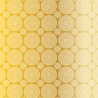 Goldweißes Laubsägearbeits-Medaillonmuster