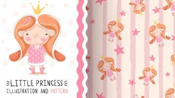 Nette kleine Prinzessin - nahtloses Muster